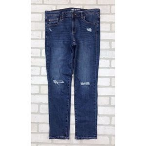 Gap Factory Distressed Girlfriend Jeans 6